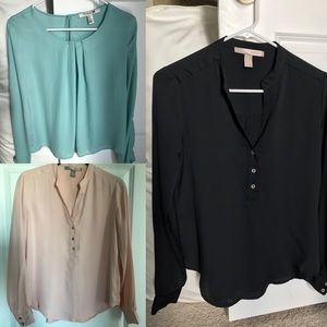 Lot of 3 Forever 21 long sleeve blouses